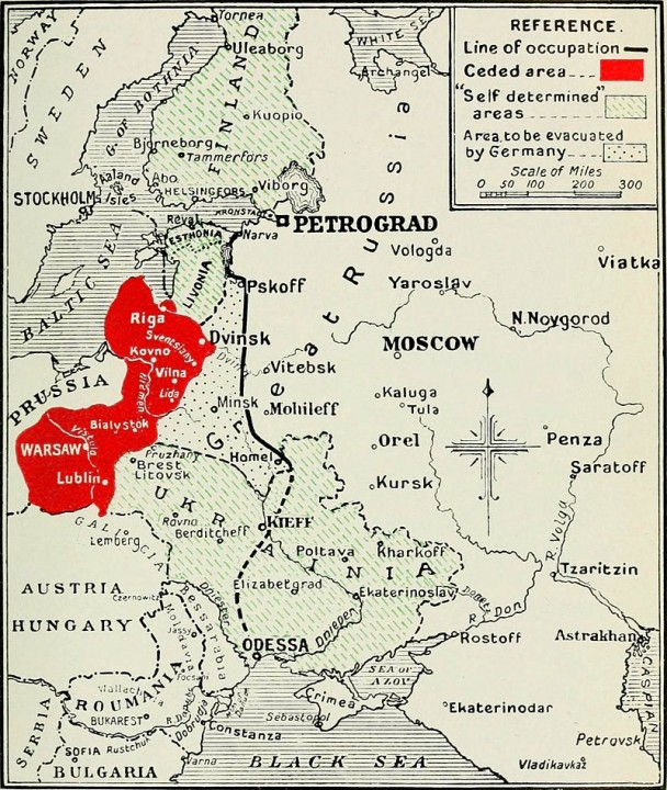 Map Treaty Brest Litovsk Image public domain