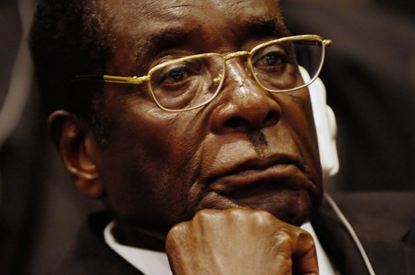 Mugabe at the African Union in 2008. Photo by TSGT Jeremy Lock.