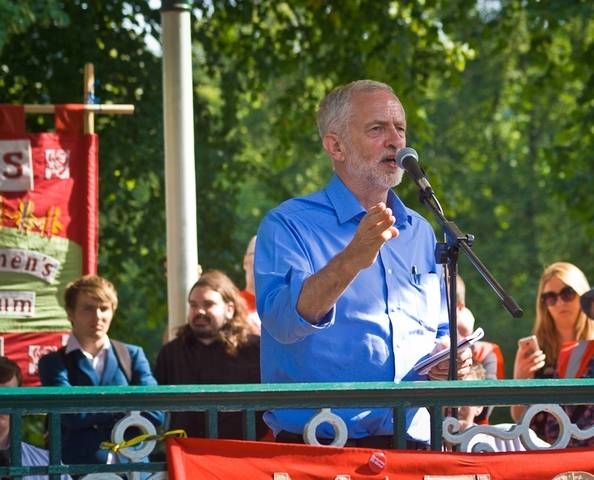 Corbyn speech commons.wikimedia.org wiki FileCOLONJeremy Corbyn Leader of the Labour Party UK speaking at rally