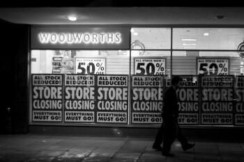 30,000 workers lost their jobs when Woolworths went bankrupt earlier this year. Photo by pilotito on Flickr.