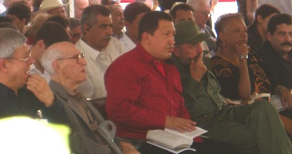 Hugo Chavez and Fidel Castro - Picture taken by Marxist.com