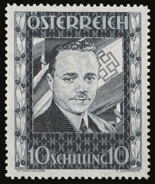 Engelbert Dollfuss on a stamp in 1936