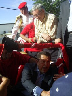 Alan Woods y Hugo Chávez