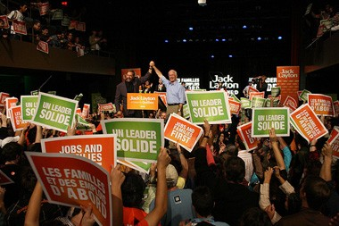 NDP Rally for Federal Election 2008