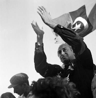 Zulfiqar Ali Bhutto at a PPP rally