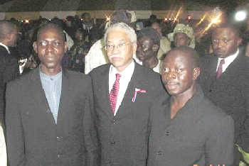 Adams Oshiomhole, former president of the NLC (right) (Picture source: Wikipedia)
