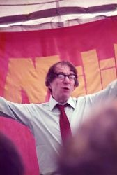 Ted speaking at the 1979 South Wales Summer Camp