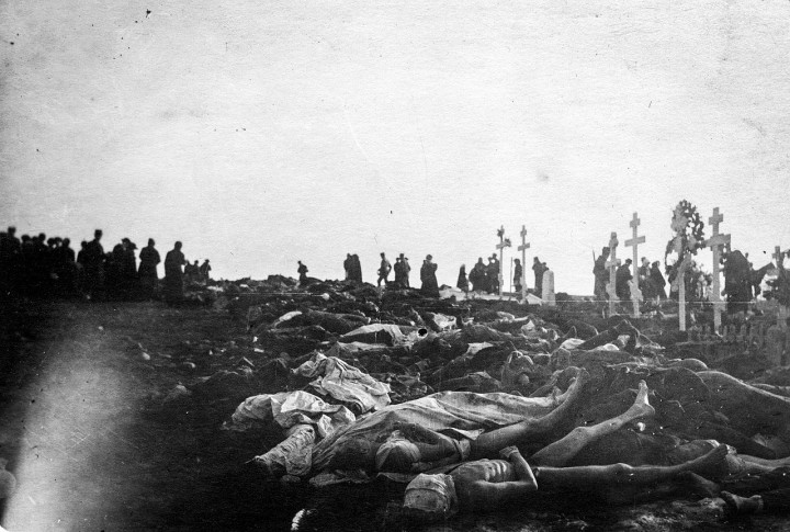 Unburied bodies of Reds after Battle of Tampere Image public domain