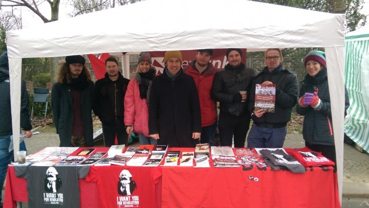 Der Funke comrades at the memorial demonstration 1