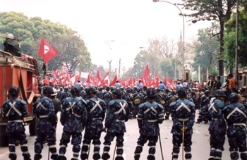 Failing to make headway through parliamentary means, the Nepalese Maoists resorted to arms in the name of the Maoist path, only to come full circle and return to their positions in support of bourgeois democracy a decade later. Photo by Buddha's breakfast on Flickr.