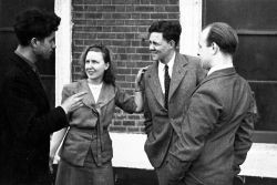 The four arrested apprentices: Jock Haston, Ann Keen, Heaton Lee and Roy Tearse