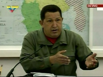 In a meeting of the Cabinet, broadcast live by state media, president Chavez announced the nationalisation of US-based multinational Cargill.