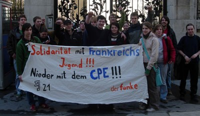 Vienna Students' Parliament stands in solidarity with the demonstrations in France