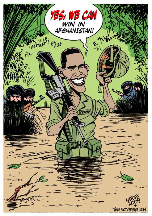 Obama in Afghanistan by Latuff