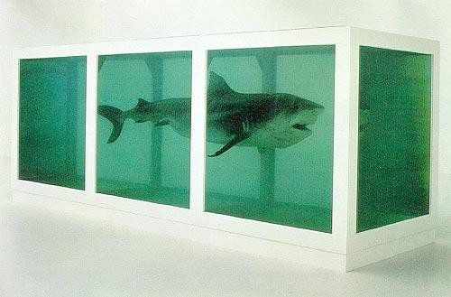 The Physical Impossibility of Death in the Mind of Someone Living, by Damien Hirst