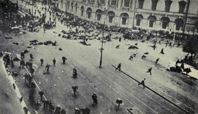 Riot on Nevsky prospekt in Petrograd Image Wikimedia Commons