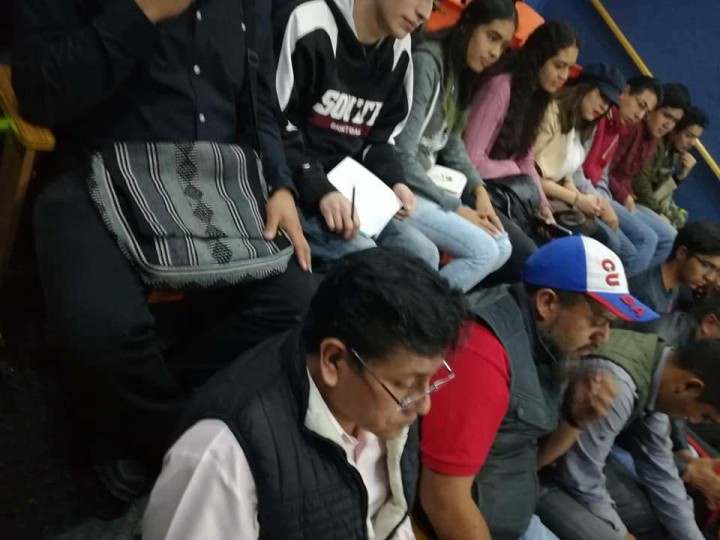 Students listened attentively to Alan and later participated with opinions and questions Image la Izquierda Socialista