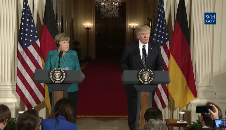 Angela Merkel Donald Trump Image The White House