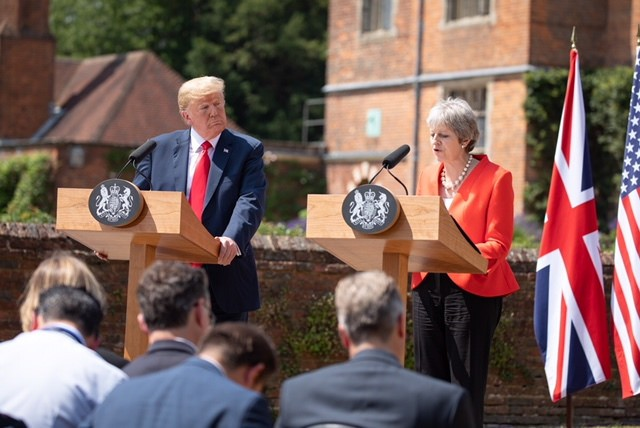 Trump visit chequers Image fair use
