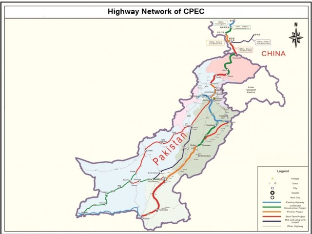 CPEC Road Network Public Domain
