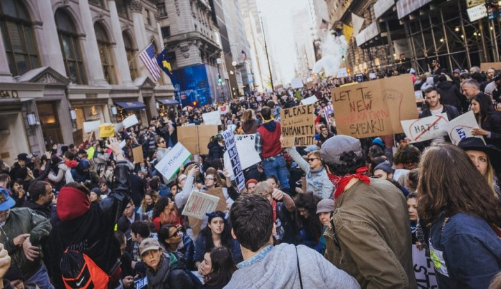 Trump Tower Protest Rally Image Flickr Mathiaswasik