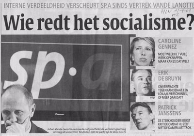 Media coverage in De Standaard: