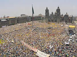 More than a million demonstrate in Mexico City