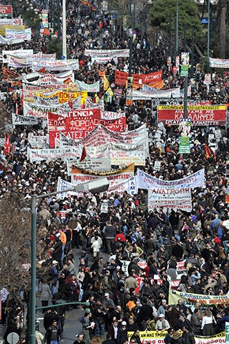 Greece: February 24 massive general strike – workers' movement back in action!