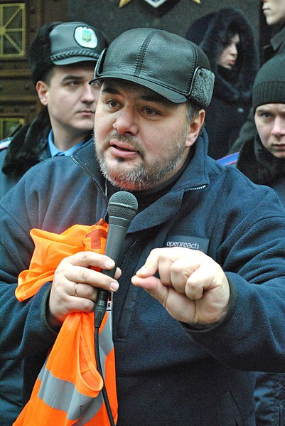 Anti government journalist Ruslan Kotsaba Image Mykola Vasylechko