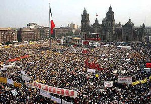Massive demonstration against electoral fraud