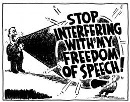 freedom of speech megaphone