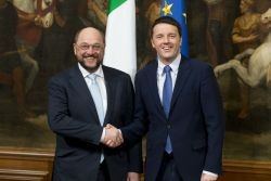 Martin Schultz, President of the European Parliament, and Matteo Renzi, Prime Minister of Italy. Photo: Palazzo Chigi