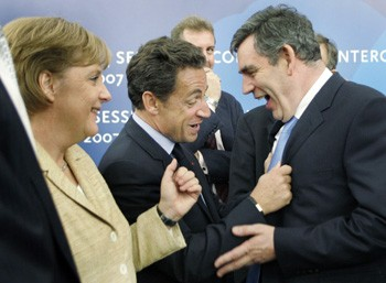 Merkel, Sarkozy and Brown
