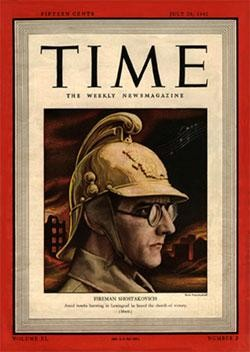 Shostakovich on the cover
