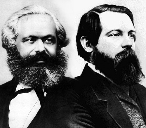 Marx and Engels Image public domain