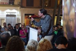 The leader of Podemos speaking in Malaga. Photo: Cyberfrancis