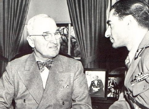 Mohammed Reza Shah and US President Truman in 1949