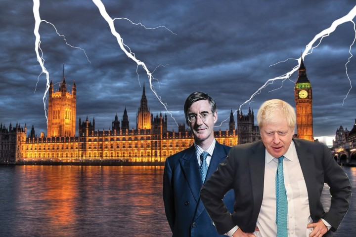 Johnson Ress Mogg parliament storm Image Socialist Appeal