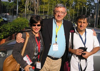 Alan with Eva Golinger (author of The Chavez Code) and Pascual Serrano (editor of Spanish website Rebelion)