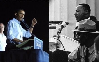 Obama and King - not so alike like after all. Photo on the left by bonayur on Flickr.