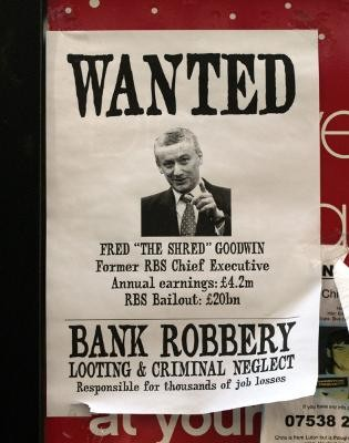 Fred Goodwin - the 'scumbag millionaire' is being targeted by the press for his £16 million pension. Photo by takomabibelot on Flick.