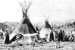 Shoshoni tipis in the 19th century