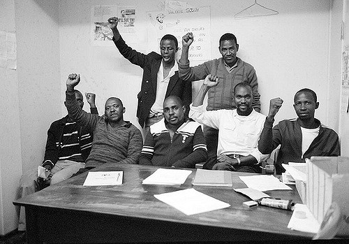 Members of the National Union of Mineworkers during Apartheid Image Flickr UN