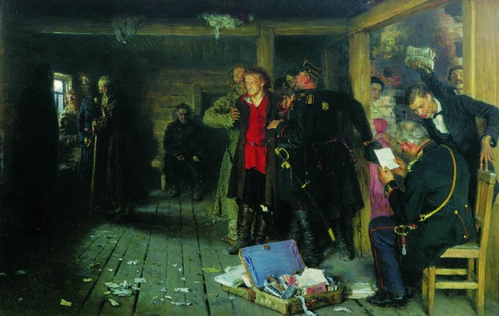 Arrest of a Propagandist by Ilya Repin Image public domain