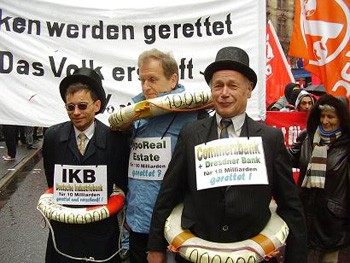 'We Won't Pay For Your Crisis' demonstration in Frankfurt