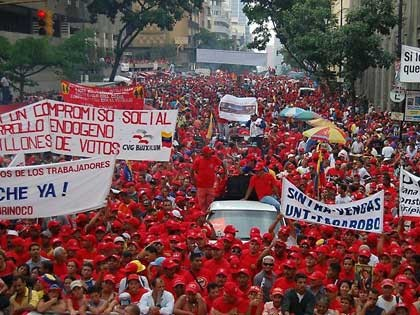 Big May Day mobilisation in Caracas