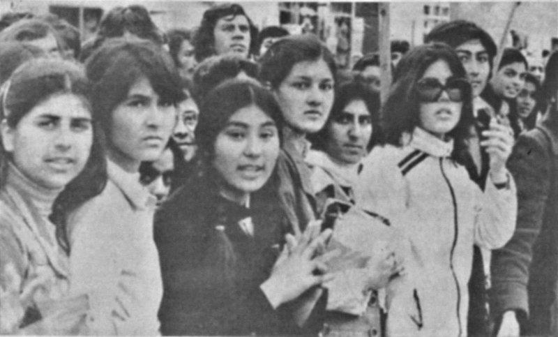 Crowd in Kabul around 1980.