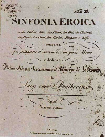 'Luigi van Beethoven had initially planned on dedicating the Eroica Symphony to Napoleon - till he crowned himself Emperor.