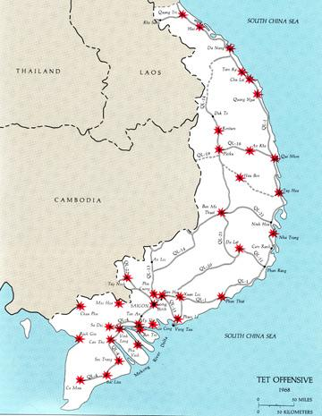 Tet Offensive targets