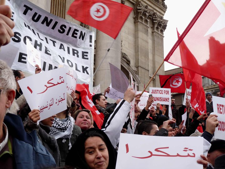 Tunisia solidarity in Brussels. Photo: Isabelle Marchal